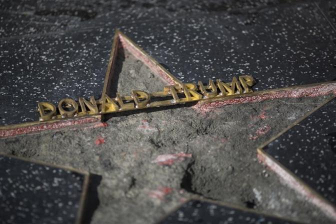 WOMAN BULLIED PROTECTING TRUMPS HOLLYWOOD STAR