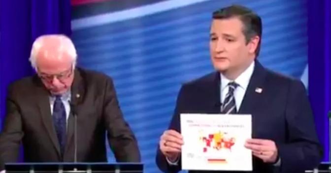 Ted Cruz Crushes Bernie Sanders