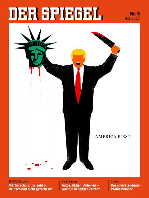 German magazine defends cover showing Trump beheading Statue of Liberty