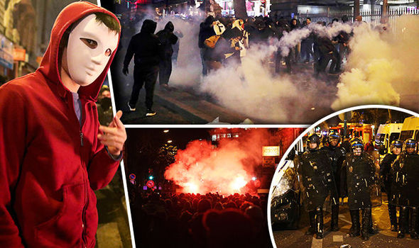 PARIS ON FIRE: Riots reach capital's centre – buildings set ablaze and police attacked