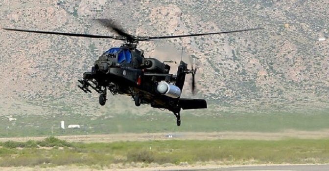 This is what happens when the Army puts a laser on an Apache attack helicopter |