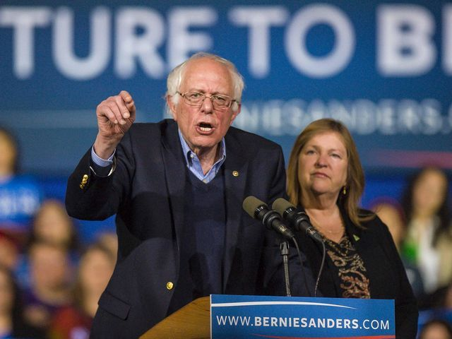'That is an absolute lie,' Sanders says of Burlington College claims