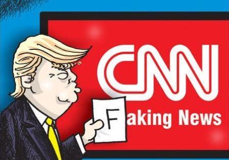 In tweeted video, Trump knocks down, beats up 'CNN'