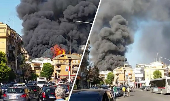 Vatican fire as thick black smoke billows above Pope's city | World | News | Express.co.uk