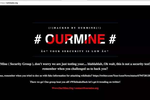WikiLeaks website apparently hacked by OurMine