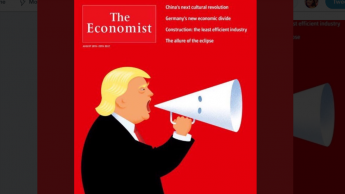 Economist cover shows Trump speaking with KKK hood | TheHill