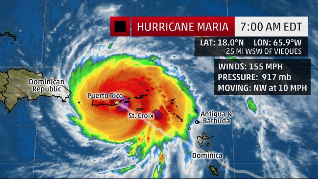 Hurricane Maria the Strongest Puerto Rico Landfall in 85 Years